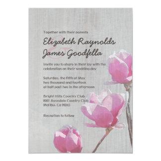 Invitaciones del boda de la magnolia del vintage anuncio