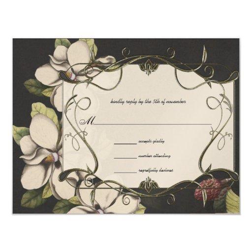 """Invitaciones del boda de la magnolia en el hielo invitación 4.25"""" x 5.5"""""""