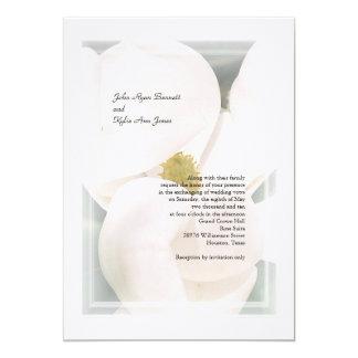 """Invitaciones del boda de la magnolia meridional invitación 5"""" x 7"""""""