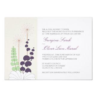 Invitaciones del boda de la margarita invitación 12,7 x 17,8 cm