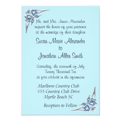 Invitaciones del boda de la mariposa invitación 12,7 x 17,8 cm