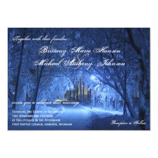 """Invitaciones del boda de la nieve de la tarde de invitación 4.5"""" x 6.25"""""""