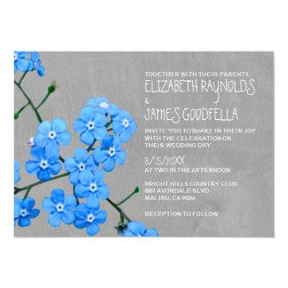 Invitaciones del boda de la nomeolvides invitación 12,7 x 17,8 cm