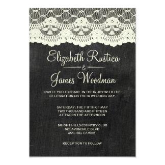 Invitaciones del boda de la pizarra del país comunicados personales