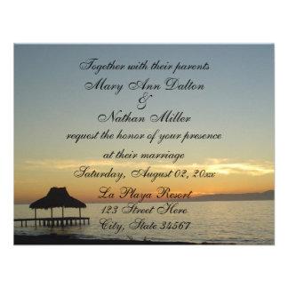Invitaciones del boda de la puesta del sol de la R