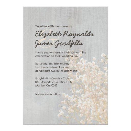 Invitaciones del boda de la respiración del bebé invitación 12,7 x 17,8 cm