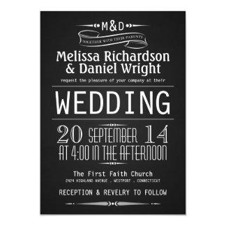 Invitaciones del boda de la tipografía del anuncio personalizado