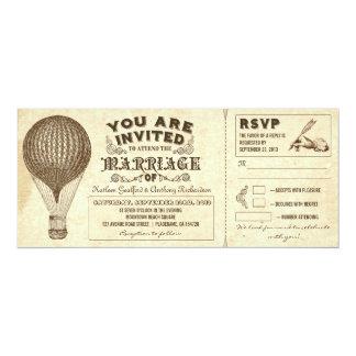 """invitaciones del boda de la tipografía del vintage invitación 4"""" x 9.25"""""""