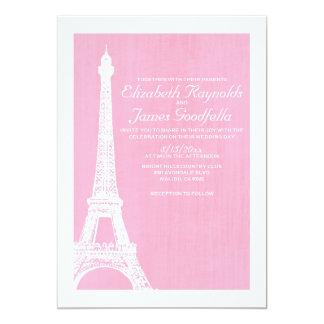 """Invitaciones del boda de la torre Eiffel Invitación 5"""" X 7"""""""