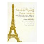 Invitaciones del boda de la torre Eiffel del vinta