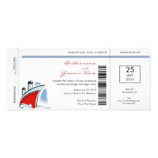 Invitaciones del boda de la travesía del documento comunicado personal