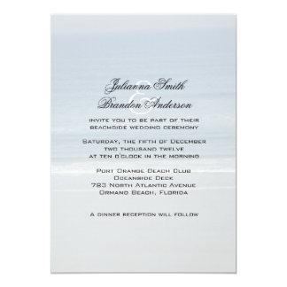 """Invitaciones del boda de la vista al mar, 5x7 invitación 5"""" x 7"""""""