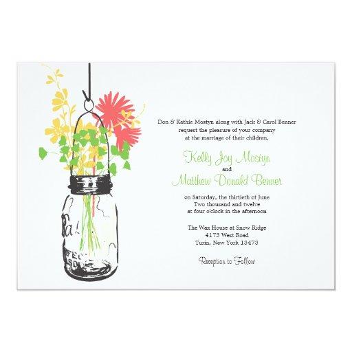 """Invitaciones del boda de las flores salvajes y del invitación 5"""" x 7"""""""
