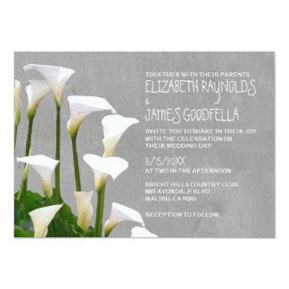 """Invitaciones del boda de Lillies de la cala Invitación 5"""" X 7"""""""