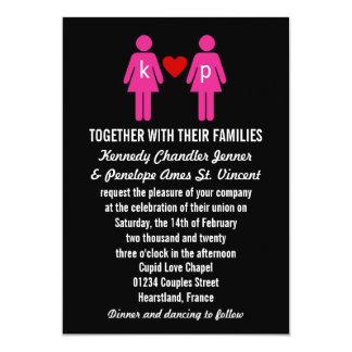 Invitaciones del boda de los pares del amor del