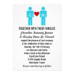Invitaciones del boda de los pares del amor del mo invitaciones personalizada