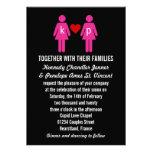 Invitaciones del boda de los pares del amor del mo comunicado personal