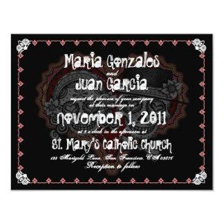 Invitaciones del boda de los pares del cráneo del invitación 10,8 x 13,9 cm