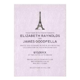 Invitaciones del boda de París