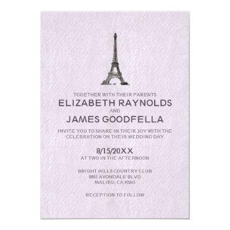 """Invitaciones del boda de París Invitación 5"""" X 7"""""""