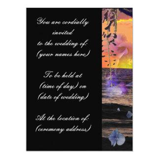 Invitaciones del boda de playa invitación 16,5 x 22,2 cm