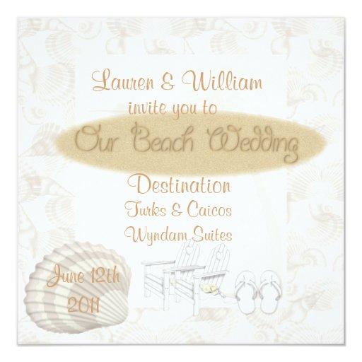 Invitaciones del boda de playa comunicados