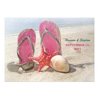 invitaciones del boda de playa con las estrellas d comunicado