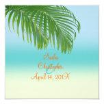 Invitaciones del boda de playa de PixDezines Invitación Personalizada