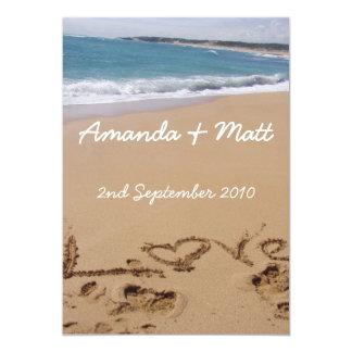 """Invitaciones del boda de playa invitación 5"""" x 7"""""""