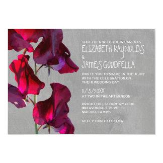 """Invitaciones del boda de Sweetpea Invitación 5"""" X 7"""""""