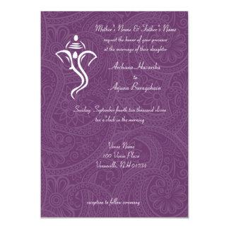 """Invitaciones del boda de Vighneshvara Invitación 5"""" X 7"""""""