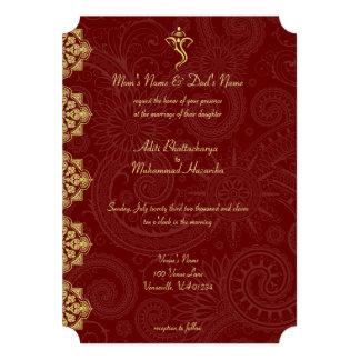 Invitaciones del boda de Vinayaka Anuncios Personalizados