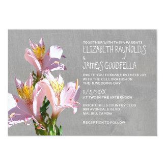 Invitaciones del boda del Alstroemeria Invitación 12,7 X 17,8 Cm
