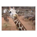 Invitaciones del boda del amor de la jirafa invitacion personal