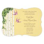 Invitaciones del boda del árbol de abedul del pája