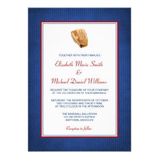 Invitaciones del boda del béisbol