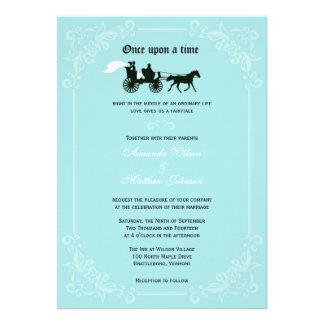 Invitaciones del boda del caballo y del carro del