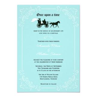 """Invitaciones del boda del caballo y del carro del invitación 5"""" x 7"""""""