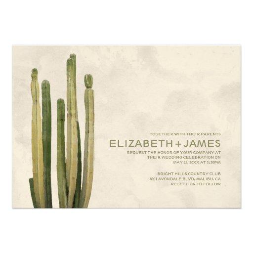 Invitaciones del boda del cactus del país anuncios personalizados