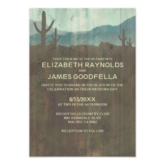 Invitaciones del boda del cactus del vintage anuncio personalizado