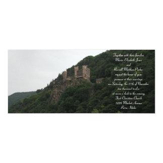 Invitaciones del boda del castillo invitación 10,1 x 23,5 cm