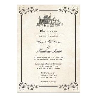 Invitaciones del boda del castillo del cuento de h