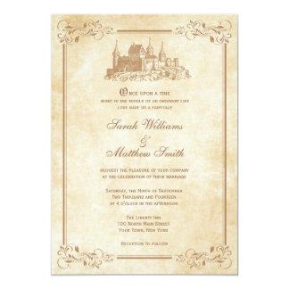 """Invitaciones del boda del castillo del cuento de invitación 5"""" x 7"""""""