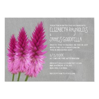 """Invitaciones del boda del Celosia Invitación 5"""" X 7"""""""