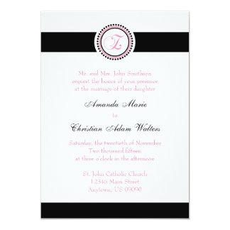 Invitaciones del boda del círculo del punto del invitacion personalizada