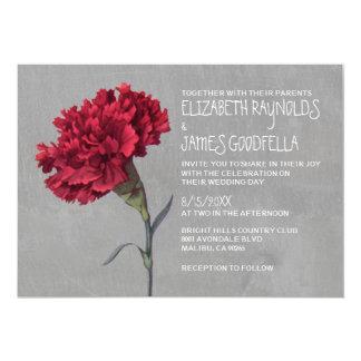 Invitaciones del boda del clavel comunicado