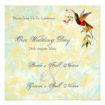Invitaciones del boda del colibrí del vintage anuncios