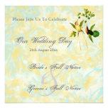 Invitaciones del boda del colibrí del vintage comunicados personales