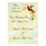 Invitaciones del boda del colibrí del vintage