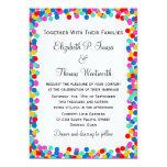 Invitaciones del boda del confeti invitaciones personales